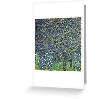 Gustav Klimt - Roses Under The Trees  Greeting Card
