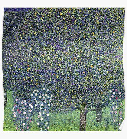 Gustav Klimt - Roses Under The Trees  Poster