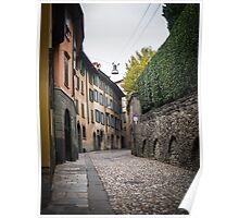 Street of Bergamo Poster