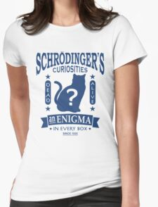 Schrodinger's Cat - Quantum Mechanics Paradox Geek Womens Fitted T-Shirt