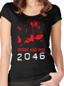 2046 -WONG KAR WAI- Women's Fitted Scoop T-Shirt