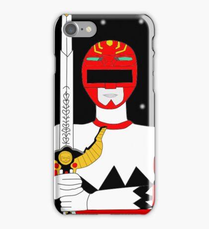 Power Rangers Lost Galaxy(Red Ranger) iPhone Case/Skin