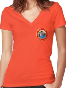 Dong Tam River Rats Women's Fitted V-Neck T-Shirt