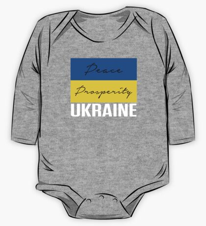 PEACE PROSPERITY UKRAINE PROTEST One Piece - Long Sleeve