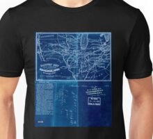 0063 Railroad Maps Railway map shewing sic the connections between Muscatine Iowa and the eastern Inverted Unisex T-Shirt