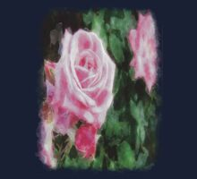 Pink Roses in Anzures 1 Watercolor Kids Clothes