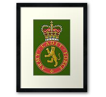Army cadets Framed Print