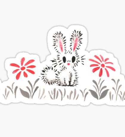Rabbit In The Grass  Sticker