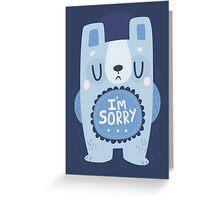 I'm Sorry Blue Bear Card Greeting Card