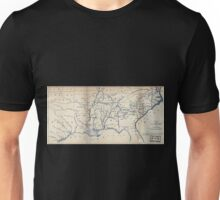 0069 Railroad Maps Map of the southern part of the United States designed to accompany Appletons' R R Unisex T-Shirt
