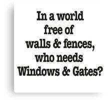 Windows & Gates Canvas Print