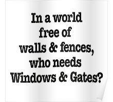 Windows & Gates Poster