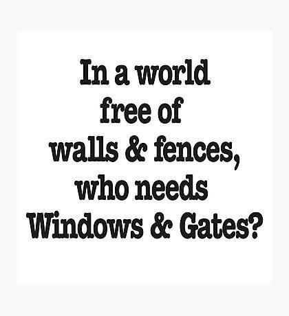 Windows & Gates Photographic Print