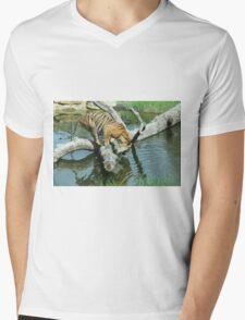 Tiger thirsty Mens V-Neck T-Shirt