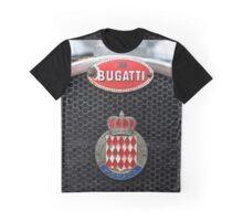 Vintage sports car radiator with worn Bugatti Monaco badges  Graphic T-Shirt