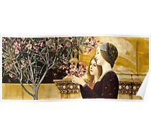 Gustav Klimt - Two Girls With Oleander  Poster
