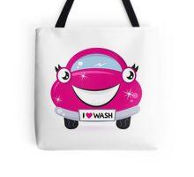 Car wash - happy pink cartoon automobile : just perfect original Gift Tote Bag