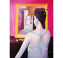 Girl in mirror Photographic Print