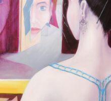 Girl in mirror Sticker