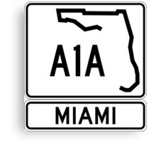 A1A - Miami Canvas Print