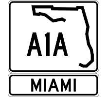 A1A - Miami Photographic Print
