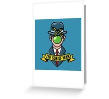 The son of man  Greeting Card