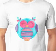 Maya the happy striped owl Unisex T-Shirt