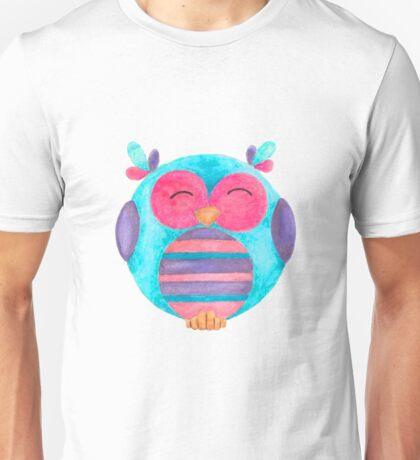 Maya the happy striped owl Unisex T-Shirt