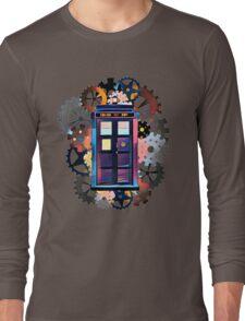 Colorful TARDIS Art Long Sleeve T-Shirt