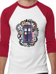 Colorful TARDIS Art Men's Baseball ¾ T-Shirt