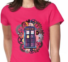 Colorful TARDIS Art Womens Fitted T-Shirt
