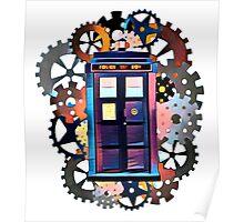 Colorful TARDIS Art Poster