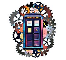 Colorful TARDIS Art Photographic Print