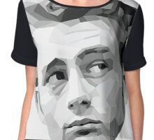 James Dean Geometric Graphic Chiffon Top