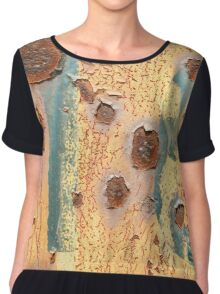 Rusty Grungy  Abstract Background Chiffon Top