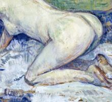 Henri De Toulouse Lautrec -  Red Headed Nude Crouching  Sticker