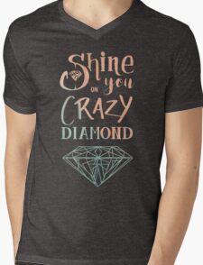 Shine on you crazy diamond - Watercolor Mens V-Neck T-Shirt