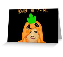 Hannah Hart Carrot Onesie :) Greeting Card