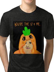 Hannah Hart Carrot Onesie :) Tri-blend T-Shirt