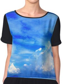 Floating Clouds Chiffon Top