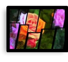 Pink Roses in Anzures 1 Tinted 2 Canvas Print