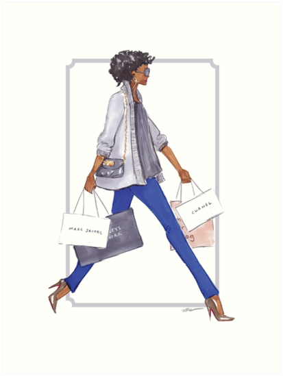 Off to Shop by Veronica Miller Jamison
