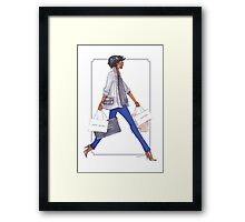 Off to Shop Framed Print