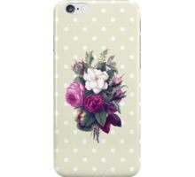 Roses, Flowers, Blooms, Leaves - Pink Green White iPhone Case/Skin