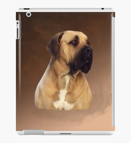Dogue De Bordeaux Mastiff Dog Portrait Painting iPad Case/Skin