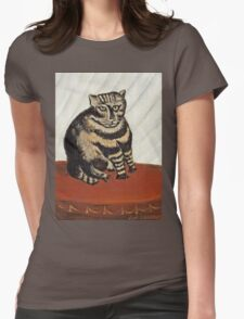 Henri Rousseau - The Tabby  Womens Fitted T-Shirt