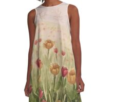 Field of Tulips- scroll down to view more of my work A-Line Dress