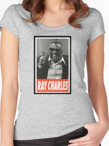 -MUSIC- Ray Charles Women's Fitted Scoop T-Shirt