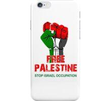 Free Palestine end Israeli Occupation, PRAY FOR GAZA iPhone Case/Skin