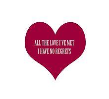 No Regrets. by godtomanydevils